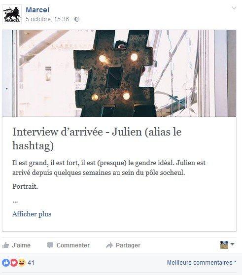Page Facebook Marcel